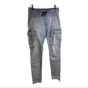 PACSUN Cargo Light Wash Jeans Blue Size Small